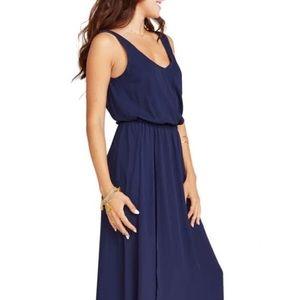 Show Me Your Mumu Kendall Maxi Dress Navy XS